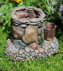 Miniature Fairy Garden Wishing Well | Miniature Fairy Garden Features | Wishing Well w/Wish Bucket