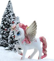 Christmas Pegasus - Peachy Pink
