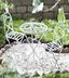 White Mini Bistro Set great for fairy and mini gardens