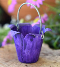 Gathered Purple Bucket