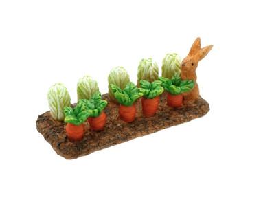 Miniature Fairy Garden Fairy - Miniature Fairy Garden Statue - Bunny Vegetable Delight