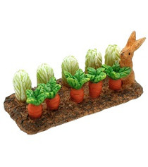Miniature Fairy Garden Fairy - Miniature Fairy Garden Statue - Bunny Vegetable Delight