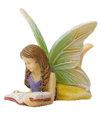 Miniature Fairy Garden Fairy | Miniature Fairy Garden Statue | Reading Fairy