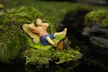 Miniature Fairy Garden Fairy   Miniature Fairy Garden Statue   Lazy Days