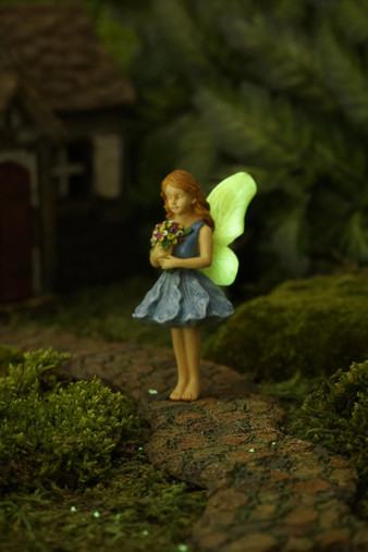 Miniature Fairy Garden Fairy   Miniature Fairy Garden Statue   Gathering Blossoms