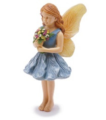 Miniature Fairy Garden Fairy | Miniature Fairy Garden Statue | Gathering Blossoms