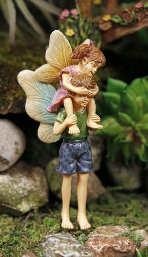 Miniature Fairy Garden Fairy   Miniature Fairy Garden Statue   Piggyback Ride