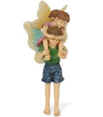 Miniature Fairy Garden Fairy | Miniature Fairy Garden Statue | Piggyback Ride