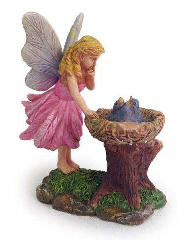 Miniature Fairy Garden Fairy | Miniature Fairy Garden Statue | Bluebird Nest