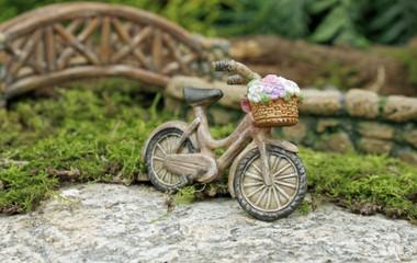 Miniature Fairy Garden -  Fairy Gardening Australia - Vintage Bike