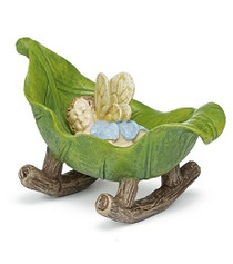Miniature Fairy Garden Fairy | Miniature Fairy Garden Statue | Baby Fairy Cradle