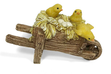 Miniature Fairy Garden Chickens - Miniature Fairy Garden Farm - Wagon Of Chickens