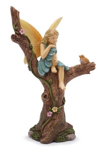 Miniature Fairy Garden Fairy | Miniature Fairy Garden Statue | Sitting Pretty