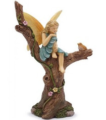 Miniature Fairy Garden Fairy | Miniature Fairy Garden Statue | Sitting Pretty