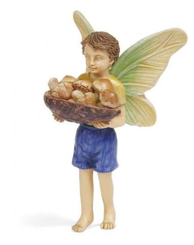 Miniature Fairy Garden Fairy | Miniature Fairy Garden Statue | Mushroom Harvest