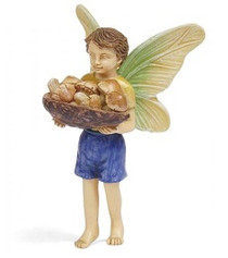 Miniature Fairy Garden Fairy | Miniature Fairy Garden Statue | Mushroom Harvest