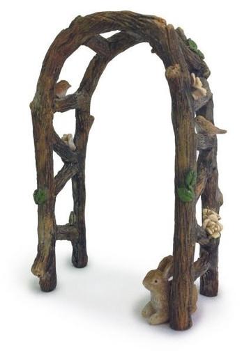 Miniature Fairy Garden Cottage Wood Arbor