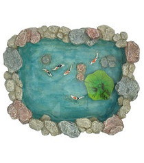 Miniature Fairy Garden Pond | Miniature Fairy Garden Water Feature | Garden Koi Pond