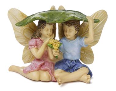 Miniature Fairy Garden Fairy | Miniature Fairy Garden Statue | Caught in the Rain