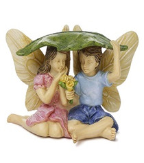 Miniature Fairy Garden Fairy | Miniature Fairy Garden Statue | Caught in the Rain