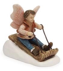 Miniature Fairy Garden Fairy | Miniature Fairy Garden Statue | Toboggan Boy