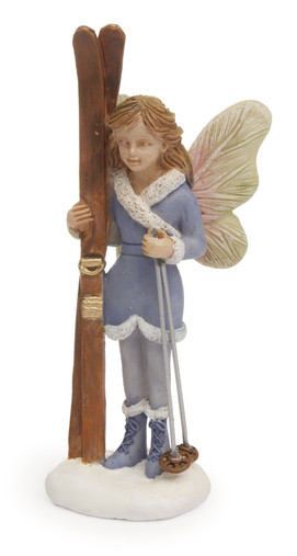 Miniature Fairy Garden Fairy - Miniature Fairy Garden Statue - Winter Skiing Fairy
