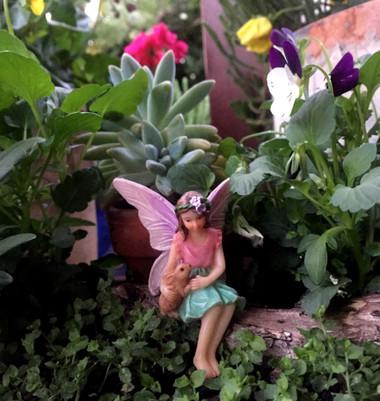 Miniature Fairy Garden Fairy   Miniature Fairy Garden Statue   Sitting Fairy