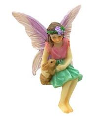Miniature Fairy Garden Fairy | Miniature Fairy Garden Statue | Sitting Fairy