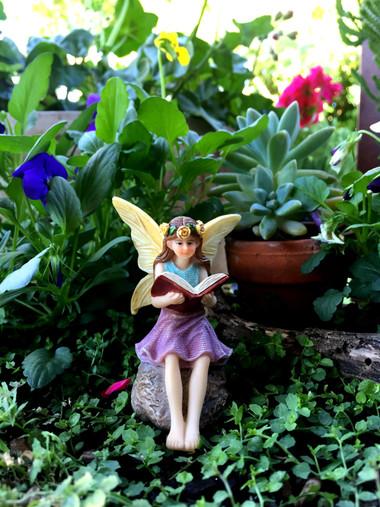 Miniature Fairy Garden Fairy | Miniature Fairy Garden Statue | A Good Book