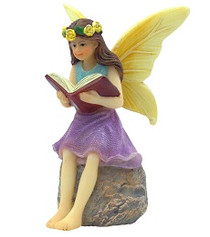 Miniature Fairy Garden Fairy | Miniature Fairy Garden Statue | A Good Book