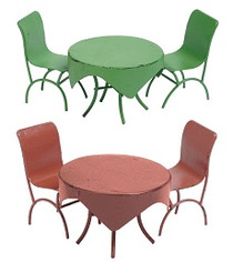 Metal Bistro Set - 2 Colours