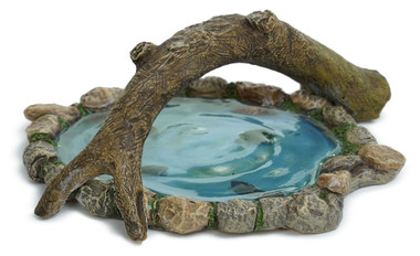 Log Bridge Pond - Fairy Garden Pond - Fairytale Gardens Australia