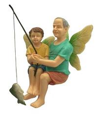 Miniature Fairy Garden Fairy | Miniature Fairy Garden Statue | Fishing With Grandpa