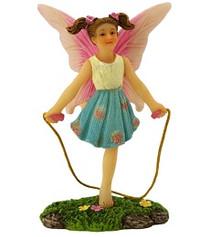 Miniature Fairy Garden Fairy | Miniature Fairy Garden Statue | Fairy Piper Skipping