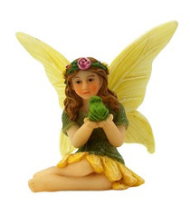 Miniature Fairy Garden Fairy | Miniature Fairy Garden Statue | Willow and Frog