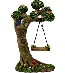 Miniature Fairy Garden Accessories | Miniature Fairy Garden Australia | Tree Stump Swing