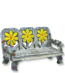 Miniature Fairy Garden Furinture | Miniature Fairy Garden Bench | Daisy Bench