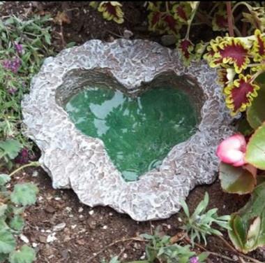 Miniature Fairy Garden Pond | Fairy Gardening Australia | Heart Pond