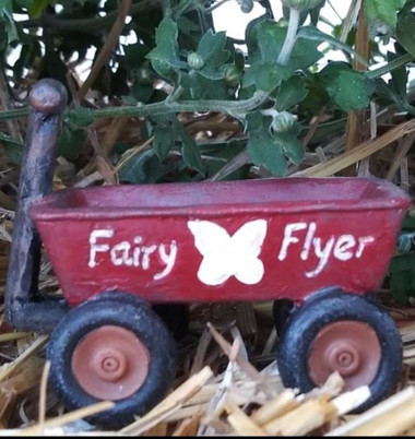 Miniature Fairy Garden Wagon | Miniature Fairy Garden Accessories | Fairy Flyer Wagon