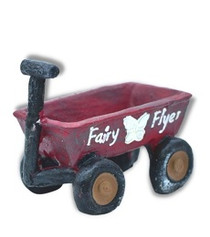 Miniature Fairy Garden Wagon | Miniature Fairy Garden Accessories | Fairy Flyer Wagon