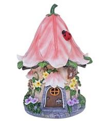 Miniature Fairy Garden Solar | Miniature Fairy Garden Houses | Solar Pink Cottage