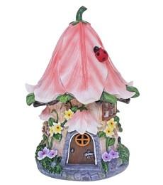 Miniature Fairy Garden Solar   Miniature Fairy Garden Houses   Solar Pink Cottage