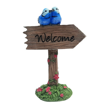 Miniature Fairy Garden | Miniature Fairy Garden Accessories | Wrens Welcome Sign