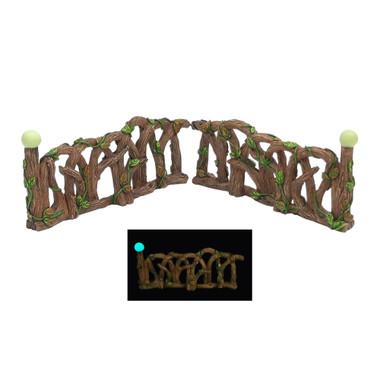 Miniature Fairy Garden Fence | Miniature Fairy Garden Accessories | Glowing Wooden Fence