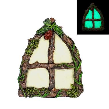 Miniature Fairy Garden Window | Miniature Fairy Garden Accessories | Glowing Arched Window