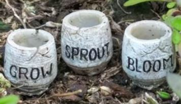 Miniature Fairy Garden Pots | Miniature Fairy Garden Accessories | Grow, Sprout, Bloom