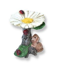 Miniature Garden Birdbath   Fairy Garden Accessories   Daisy Birdbath