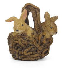 Miniature Fairy Garden Animal | Miniature Fairy Garden Rabbit | Bunny Basket