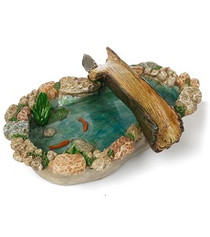 Miniature Fairy Garden Pond | Miniature Fairy Garden Features | Tree Bridge Pond