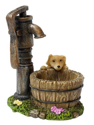 Miniature Fairy Garden Well | Miniature Fairy Garden Accessories | Garden Pump and Puppy